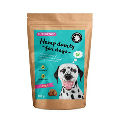 Hemp dainty for dogs - liver flavor treats | Leckerli - Superfood