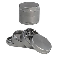 Aluminium Grinder 4-part Grey /  4 Part 56mm / Mühle / Broyeur