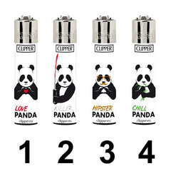 Clipper Feuerzeug Lighter Briquet Pandas