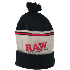 raw-pompom-hat-black-brown-beanie-winter-fashion-rawthentic-rawkandroll