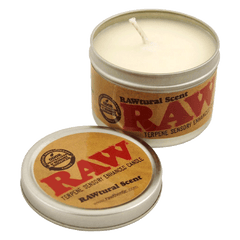 RAW Candle ''Rawtural'' Scent With Hemp Seed Oil