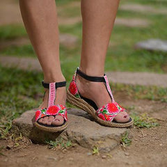 virblatt_hanf_sandalen_sinnlich_pink_hmong_Hemp_clothing_wear_fashion_wedges_comfy_bunt_colorful_Lux