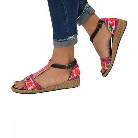 virblatt_hanf_sandalen_sinnlich_pink_hmong_Hemp_clothing_wear_fashion_wedges_comfy_bunt_colorful_Luxembourg
