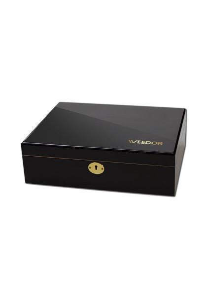 Weedor' Hardwood Joint Box with Piano Lacquer. Stashbox, luxury, filled with utensil, stonerbox,