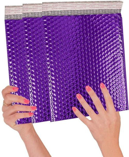 Colored Metallic Bubble Mailers