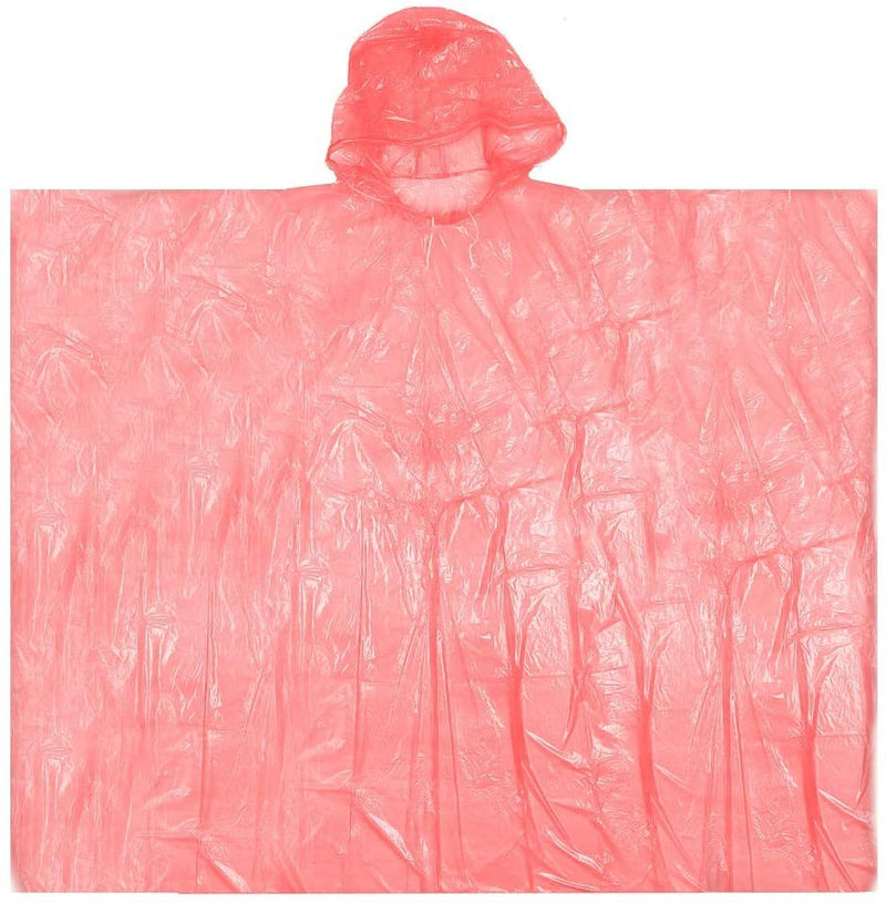 Red Emergency Storm Poncho One Size