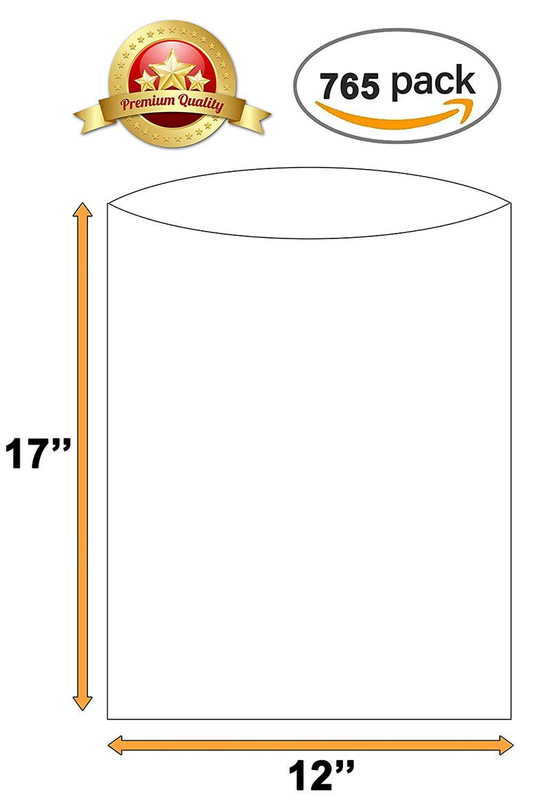 Pack Of 765 Clear Plastic Bags 12 x 17 /w Warning. 8 Micron Thick. Polyethylene Bags On A Roll Warning Printed Produce Bags - AMZSupply.com