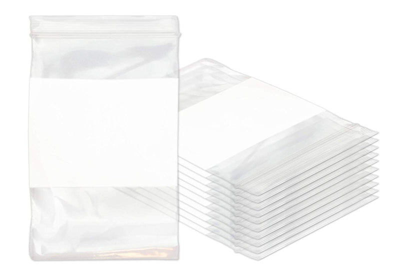 "1000 Pack Clear Seal Top Bag /w Write-On Block 6"" x 9"" 6 Mil"