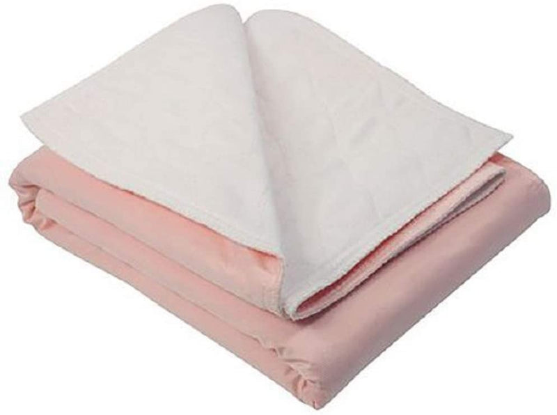 "Reusable Cotton Underpads 36"" X 36"". Pack Of 12 Washable Bed Underpads. Polyester, Rayon. Heavy Absorbent Bed Pads. Pink Knitted Vinyl Barrier. - AMZ Supply"