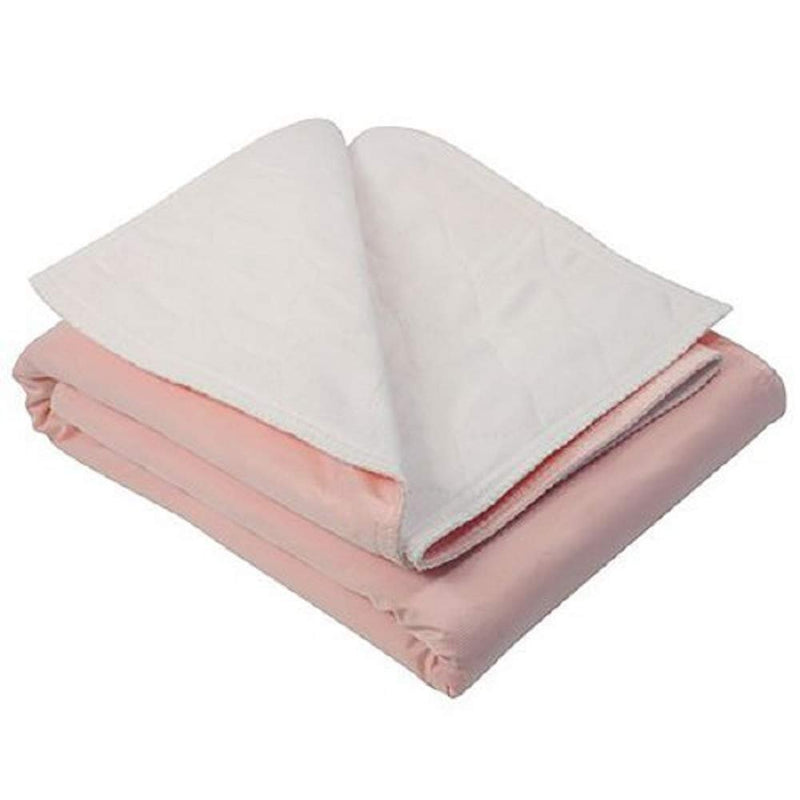 Pack Of 12 Quilted Underpads 34 X 36 Incontinence Care Pink Reusable Bed Protectors With Tuckable Flaps Heavy Absorbent Polyester, Rayon Breathable - AMZ Supply