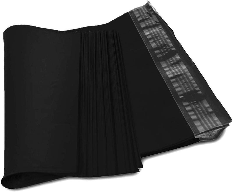 Black Poly Mailers Premium Shipping Envelopes Mailer Self Sealed Postal Bags 3.2 mil 50 Bags - AMZSupply.com