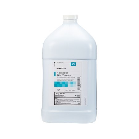 Antiseptic Skin Cleanser McKesson 1 gal. Jug 4% Strength CHG (Chlorhexidine Gluconate) / Isopropyl Alcohol - 4 pack