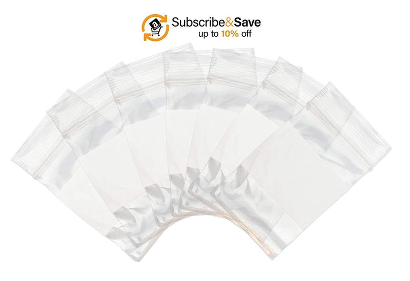 "1000 Pack White Poly Zip Lock Bags 13"" x 15"""