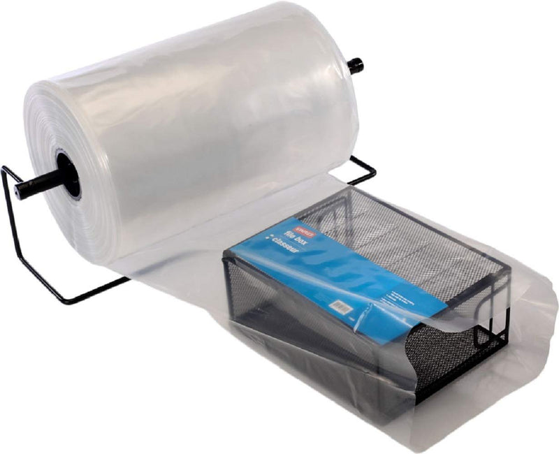 "Poly Tubing On Roll, Clear 2"" x 2200'. FDA Approved, 2 Mil. Polyethylene Packaging For Light-Weight, Odd-Size Items, Long Cylinder Objects - AMZSupply.com"