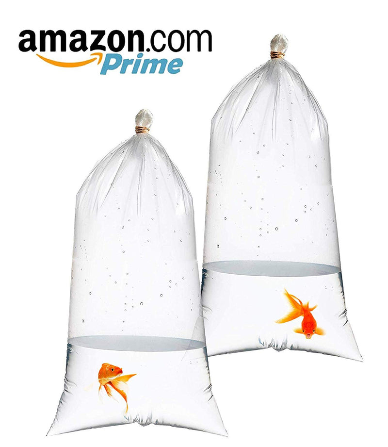 "1000 Pack Clear Poly Fish Bags 8"" x 15"""