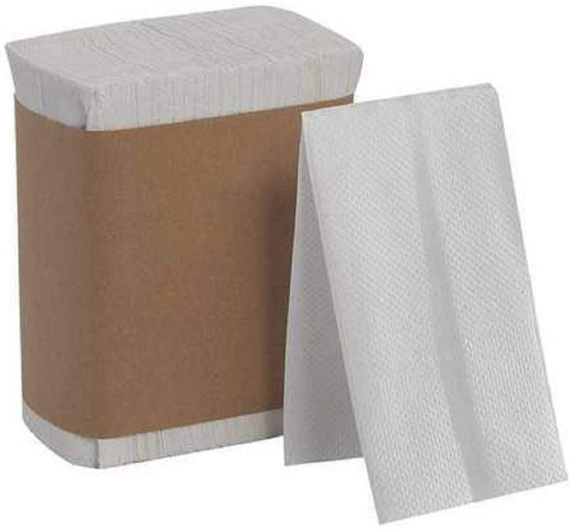 Tall Fold Paper Napkins 7 x 13.5 White Dispenser Napkins Pack Of 500 White Paper Napkins. One-Ply. Disposable. Snack-Sized Beverage - AMZSupply.com