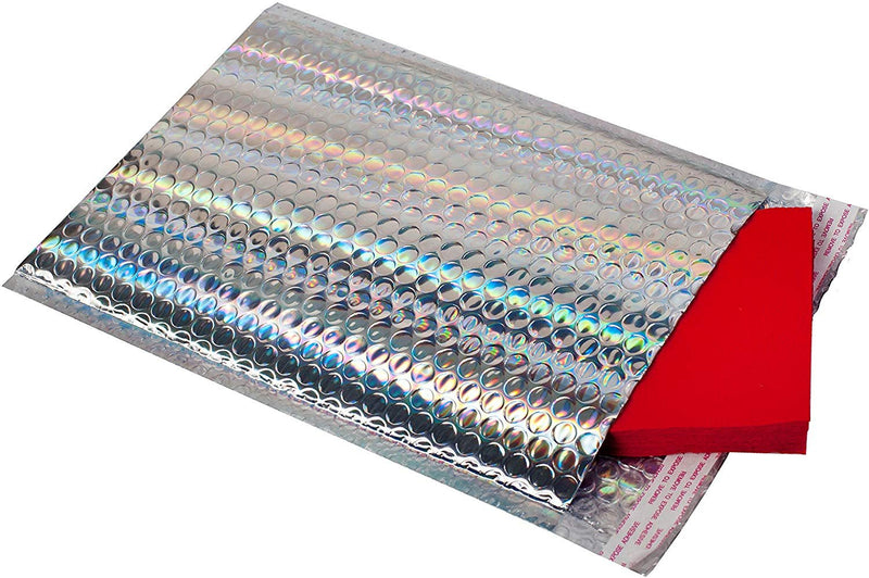 Holographic Bubble Mailers Metallic Glamour Padded Envelopes