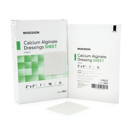 Calcium Alginate Dressing McKesson 2 X 2 Inch Square Calcium Alginate Sterile - 100 pack
