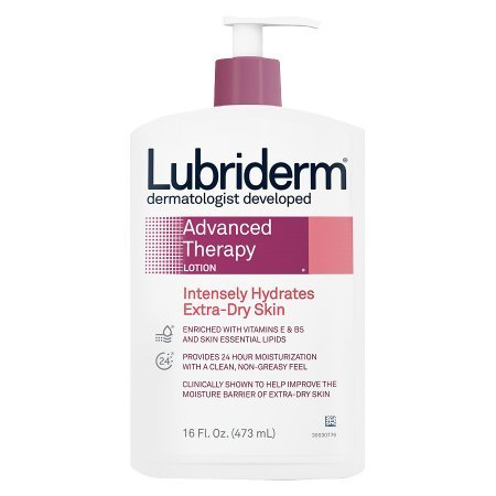 Hand and Body Moisturizer Lubriderm® Advanced Therapy 16 oz. Pump Bottle Scented Lotion - 12 pack