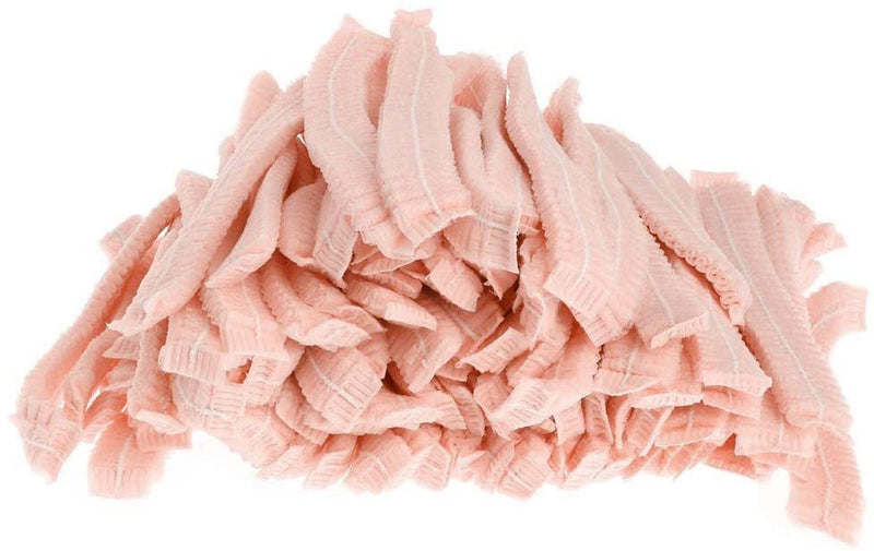 1000 Pack Pink Polypropylene Hand Sewn Bouffant Caps /w Elastic Stretch Band