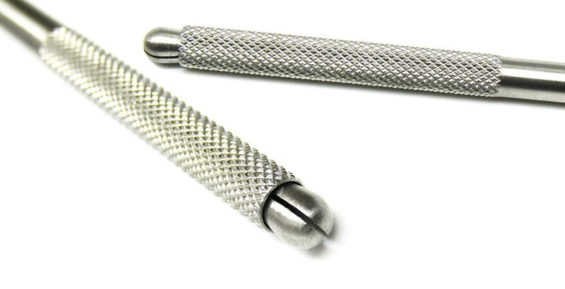Scalpel Handle McKesson Argent™ Self Locking, Miniature, Round Knurled Stainless Steel Size 3K - 1 Pack