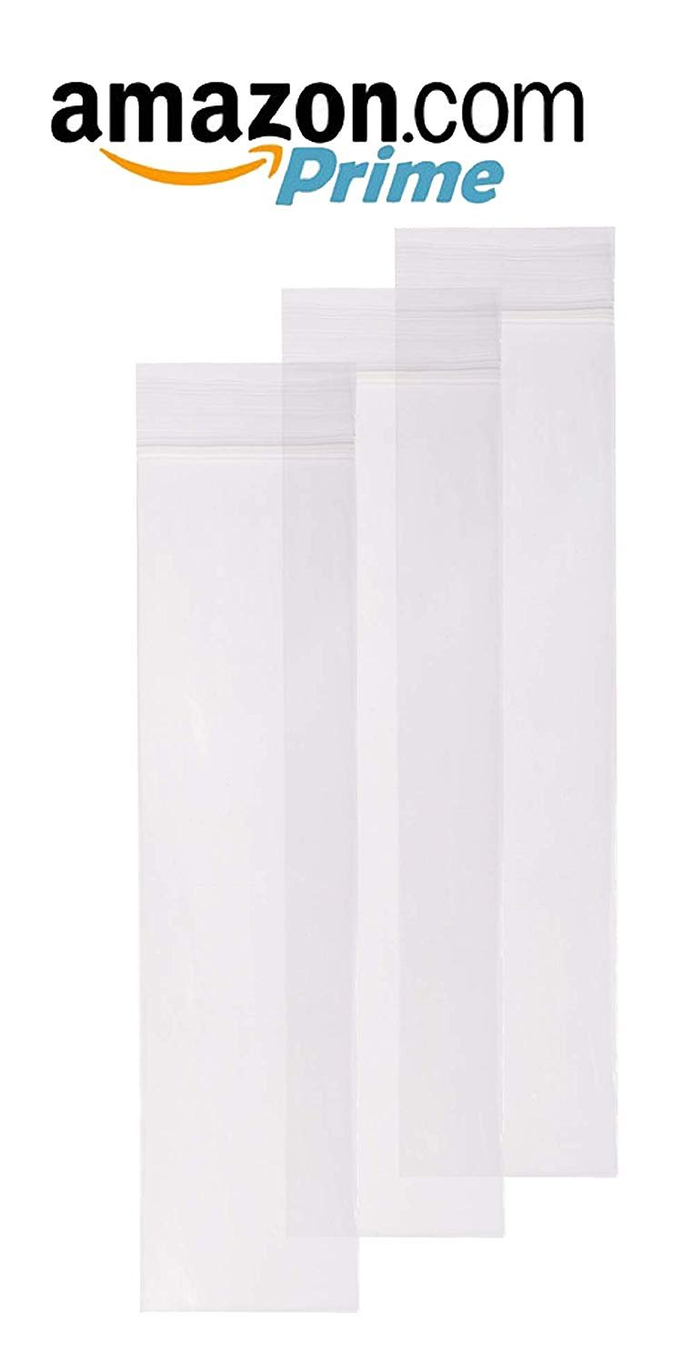 "1000 Pack Clear Syringe Bags 2"" x 8"""