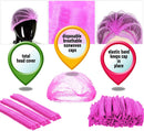 100 Mob Caps Disposable Polypropylene Hats Unisex Hair Covers