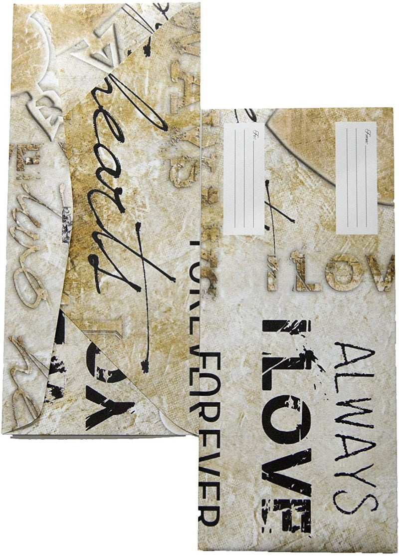 Custom Envelopes 4 1/8x9 1/2 Love Design Envelopes. Pack Of 25