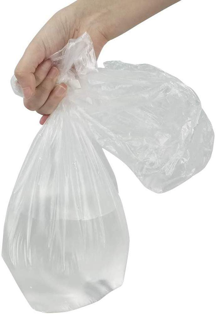 Pack Of 3000 Clear Plastic Bags 12 x 20. Thickness 10 Micron. 4 Rolls Of Polyethylene Bags Warning Printed Produce Bags. Plastic Storage Bags - AMZSupply.com