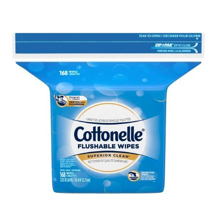 Flushable Personal Wipe Cottonelle® Fresh Care Refill Pouch Water / Sodium Chloride / Sodium Benzoate Scented 168 Count - 1344 pack