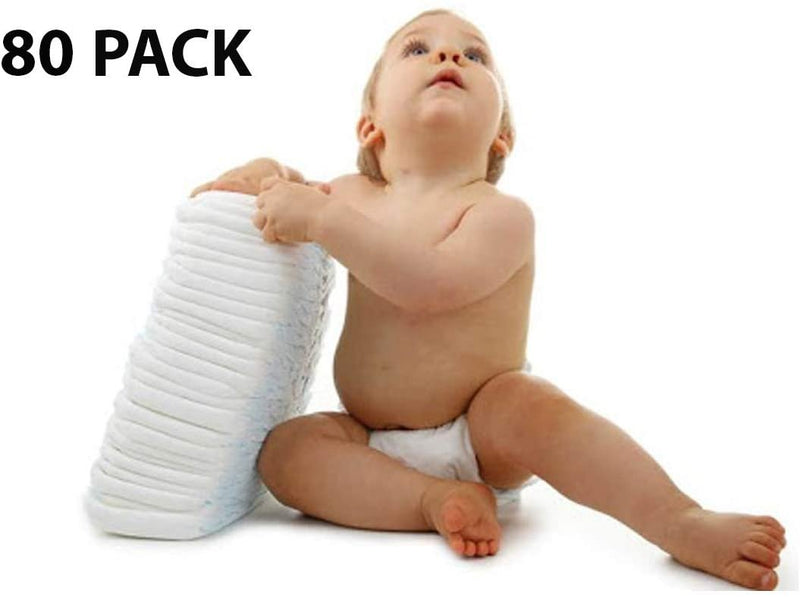 "Diapers. Case Of 80 Baby Diapers For Fits 41+ lbs, 17.3-25.1"" Waist. Size 7. Cloth-Like Backing. Elastic Gathers. Refastenable Tabs - AMZSupply.com"