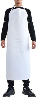 "12 Pack White Hemmed Vinyl Aprons 35"" x 48"". Disposable Aprons For Meat Processing, Food Handling. Unisex Workwear. Protective Uniform Aprons Against - AMZSupply.com"