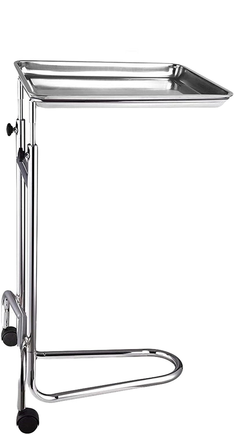 "Adjustable Double Post Instrument Stand /w Larger Replacement Tray 16 3/4"" x 21 1/2"" V-Shaped Base 50 lbs"