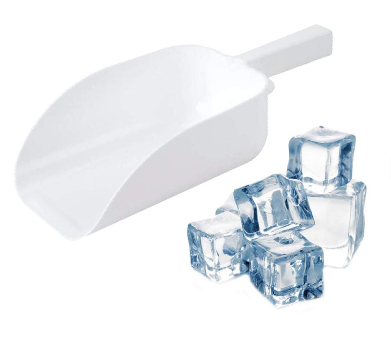 Ice Scooper 64 oz. Versatile White Plastic Ice Scooper For Food Service Applications, Freezer Ice Machine, Reustrant Kitchen, Buffet Party, Candy - AMZSupply.com