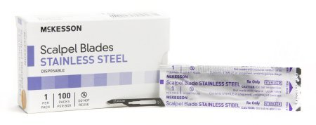 Surgical Blade McKesson Brand Stainless Steel No. 15 Sterile Disposable Individually Wrapped - 1000 pack