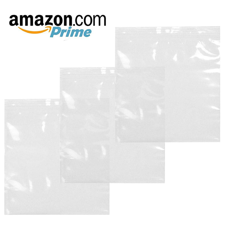 "1000 Pack Clear Poly Zipper Locking Bags 8"" x 8"""