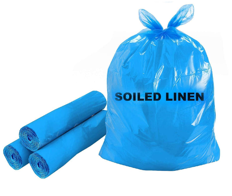 Blue Plastic Soiled Linen Liners for Housekeeping
