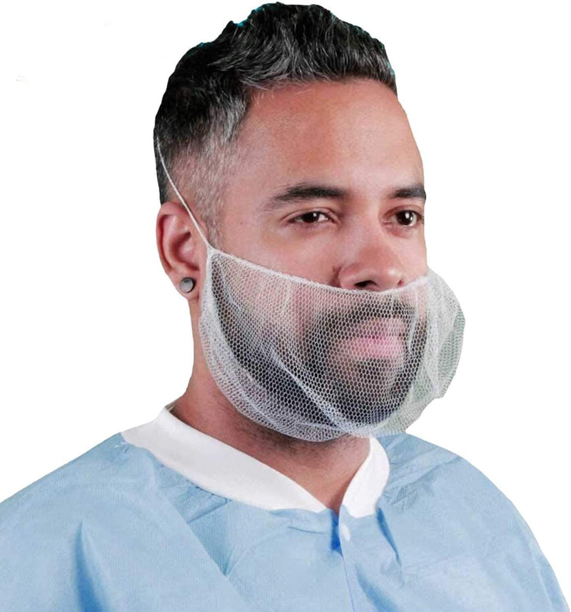 Disposable Beard Covers Nylon/Polypropylene 100pk