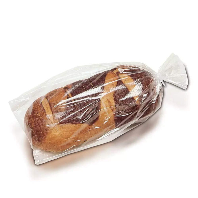 "1000 Pack Clear Poly Micro-Perf Bread Bag 13"" x 24"" + 1 1/2 LP"