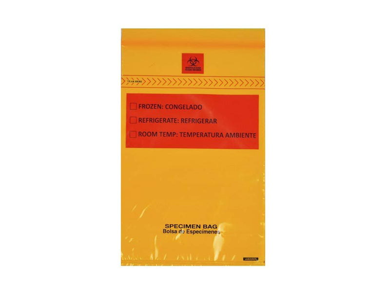 "1000 Pack Orange Zip Lock Reclosable Specimen Transfer Bags 6"" x 9"" 1.75 Mil"