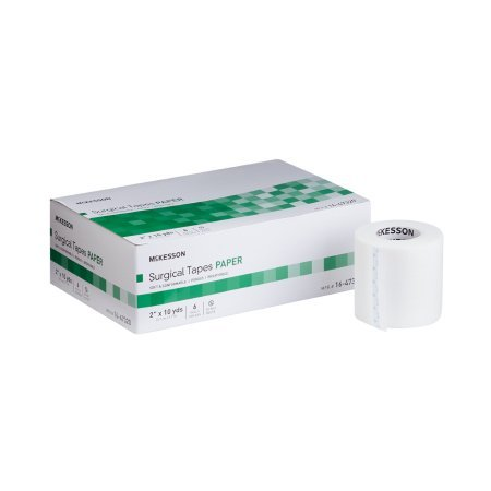 Medical Tape McKesson Paper 2 Inch X 10 Yard White NonSterile - 72 pack