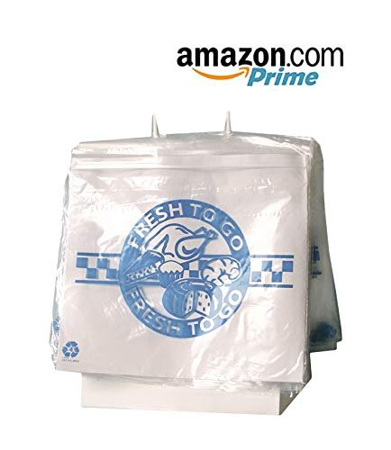 "1000 Pack Clear Poly Seal Top Saddle Pack Deli Bags 10"" x 8"""