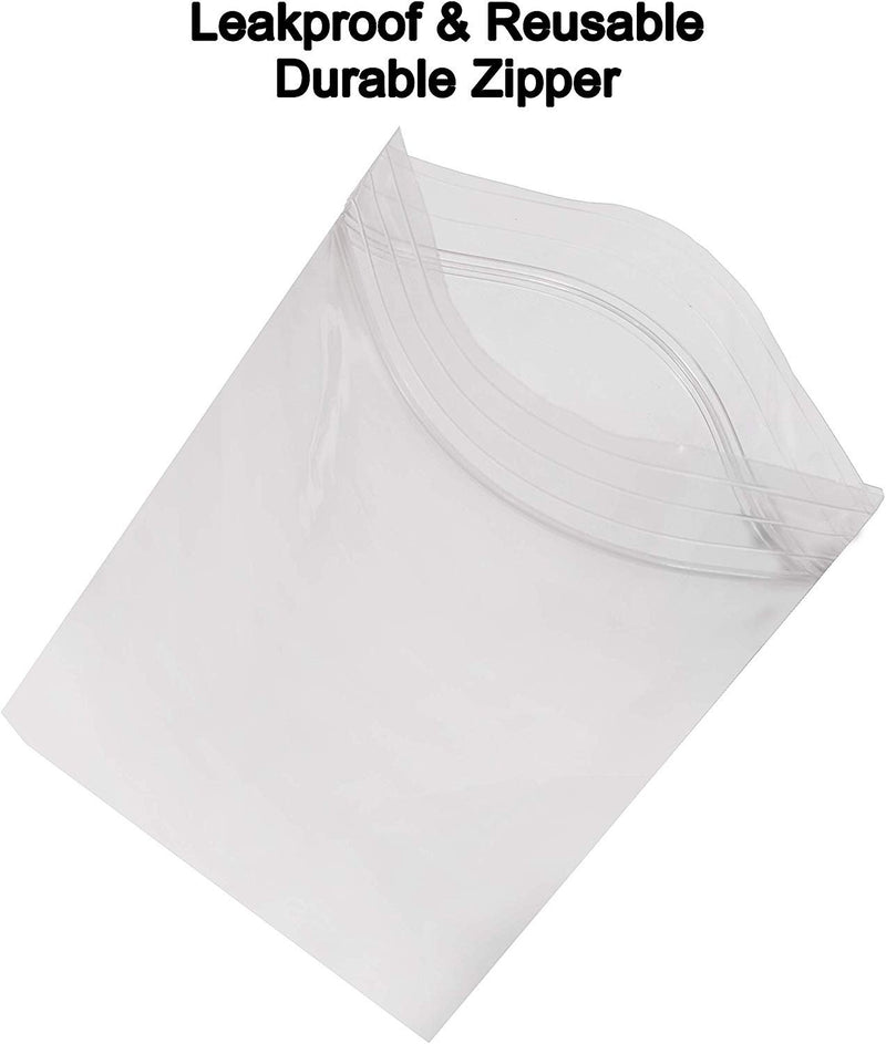 "100 Pack Clear Poly Zip Lock Bags 10"" x 12"""