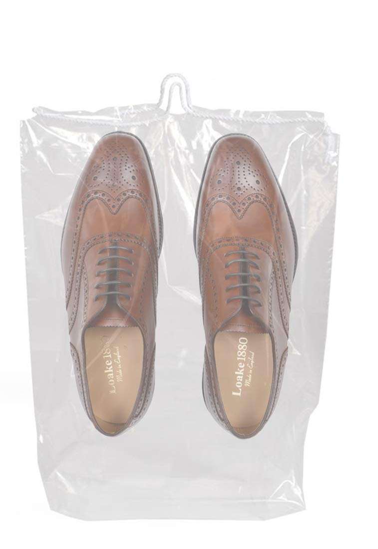 Clear Poly Drawstring Travel Shoes Bags 2 mil