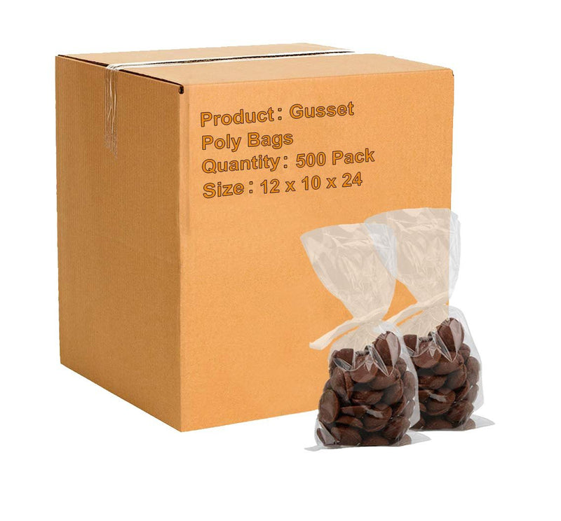 1000 Pack Polypropylene Co-Extruded Bottom Gusset Bags Clear 11 x 13 +4 BG. Polypropylene Gusseted Bags FDA Approved - AMZSupply.com