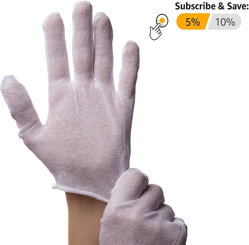 1200 Pack Cotton Lisle Gloves. Reusable Washable Gloves /w Unhemmed Cuff. Cotton Industrial Stretchable Gloves. Seamless Workwear Gloves - AMZSupply.com