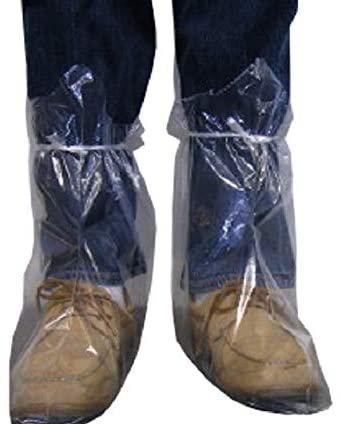 Disposable Heavy-Duty LDPE Boot Covers with Ties