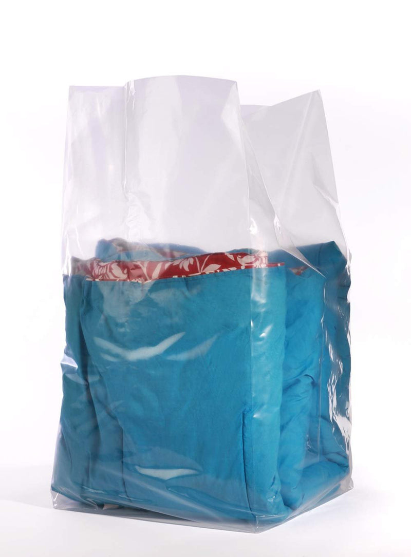 Pack Of 250 Gusset Bags, Clear 18 x 16 x 40. Plastic Expandable Bags 18X16X40. FDA Approved, 1.50 Mil. Polyethylene Bags For Industrial, Foodservice - AMZSupply.com