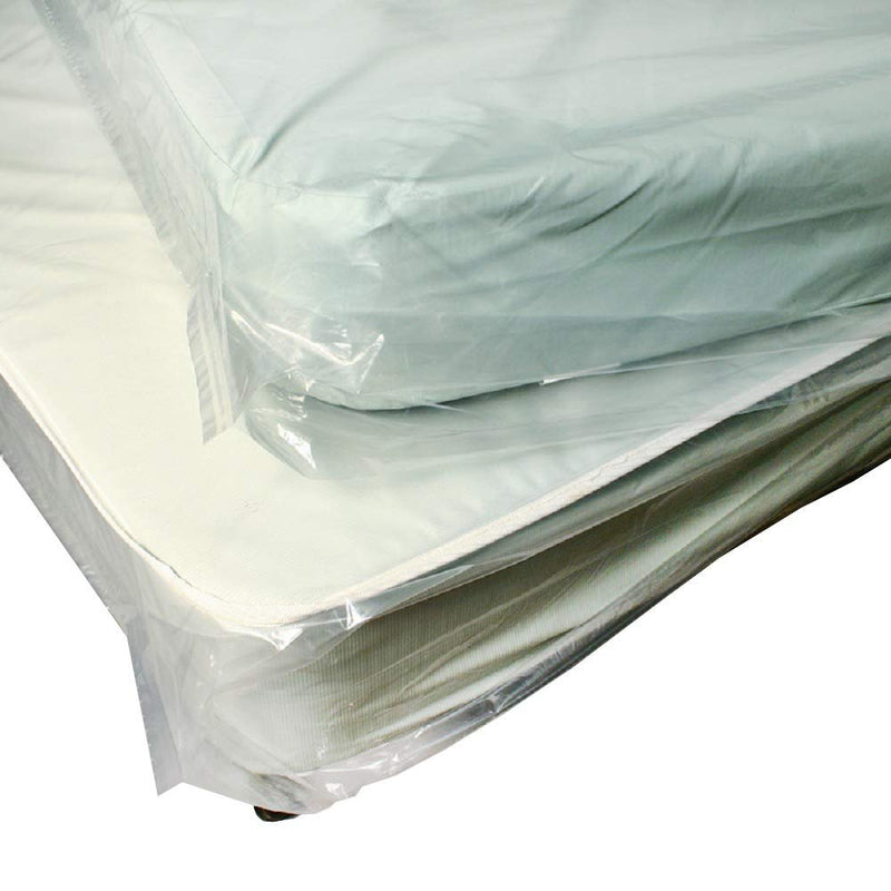 Roll Of Pillow-Top Style Mattress Bags With Vent Holes 46 X 84. Plastic Wrap Protectors 46 X 84. Thickness 1.1 Mil. Ideal For Moving And Storage. - AMZ Supply