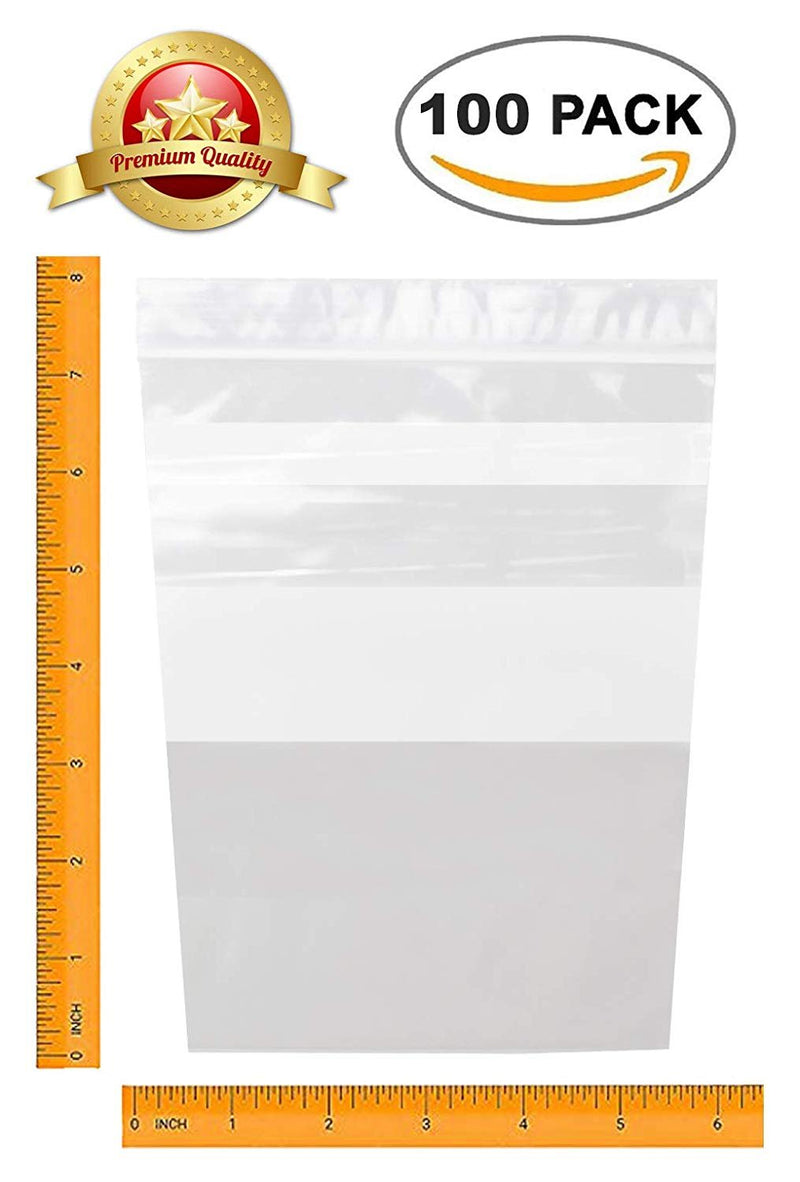 "100 Pack Clear Poly Gusseted Bags 6"" x 8"""